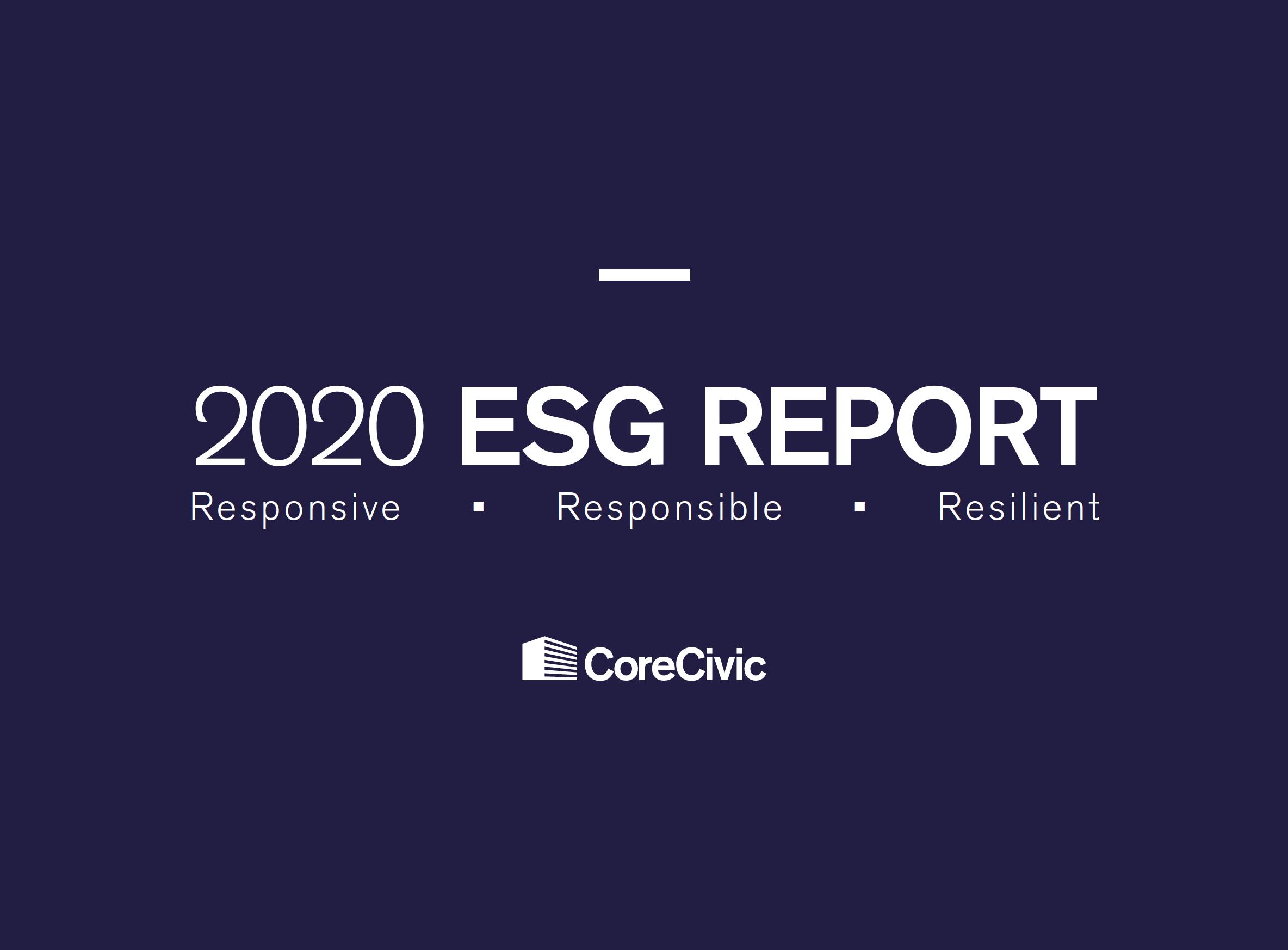 Cover-2020 ESG Report